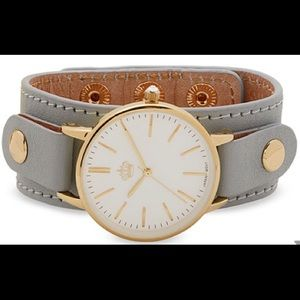 Make Time watch with Gray gold wide band